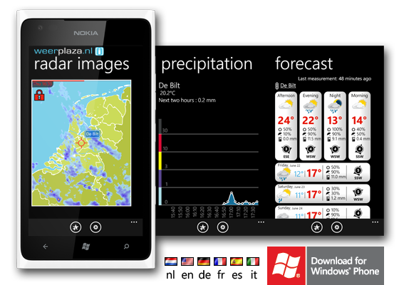 Weerplaza.nl Windows Phone app
